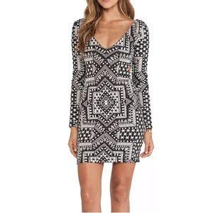 Mara Hoffman Long Sleeve Bodycon Mini Dress M EUC
